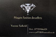 Geordie Salkeld Magpie Fashion Jewellery