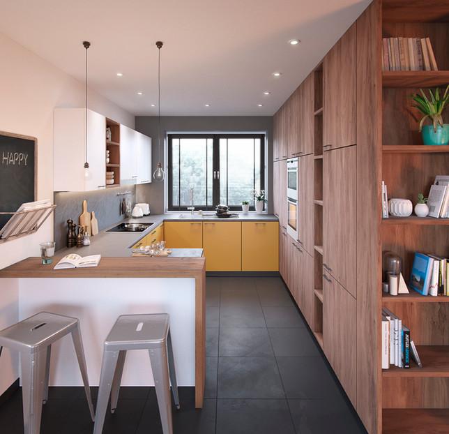 Kitchen of wood