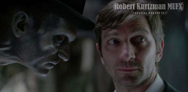 Bowler Hat Man/Tall Man stare down
