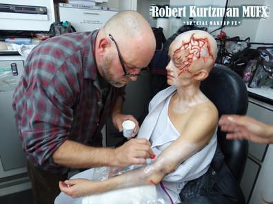 Robert Kurtzman and Carla Gugino