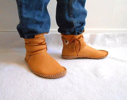 Custom Made to Order Ankle Wrap Moccasins