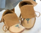Custom Made to Order Short Beaded Moccasins