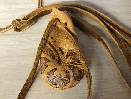 Hand Sewn Pouch, Deer Hide, Small Medicine Bag, Ready to Ship