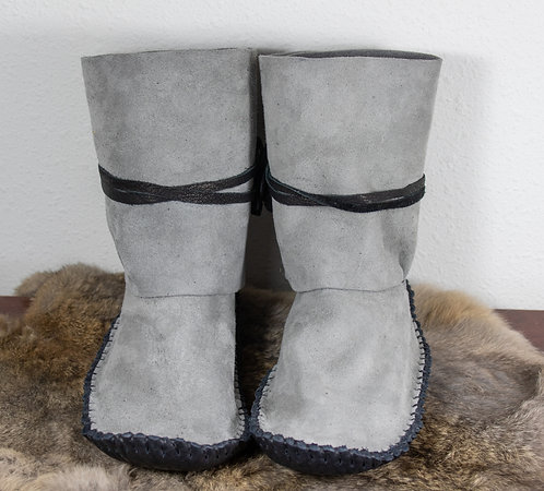 Hand Sewn Ankle Wrap Moccasins, Men's Size 8/Women's Size 9, Ready to Ship