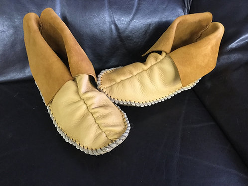 Hand Sewn Center Seam Moccasins, Size Men's 10, Ready to Ship