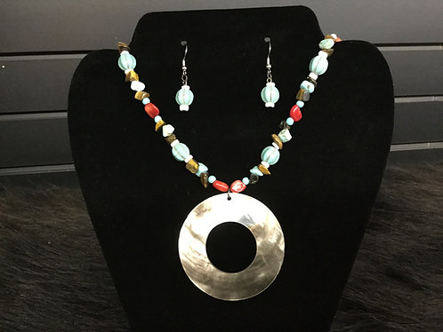 Necklace and Earring Set, Handmade, Ready to Ship