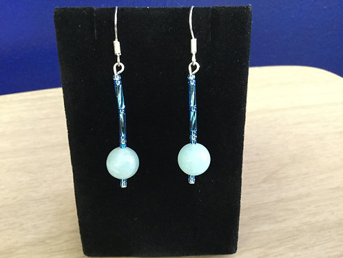 Handmade Aquamarine Earrings, Ready to Ship