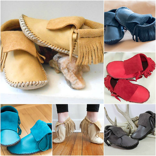 Back Fringe Plains Moccasins