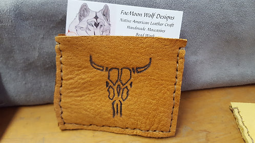 Hand Sewn Business Card Holder, Leather Wallet