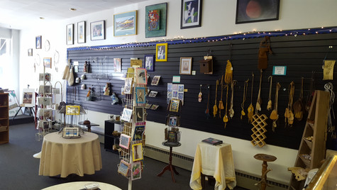 Many unique, handmade gift items in the gallery.