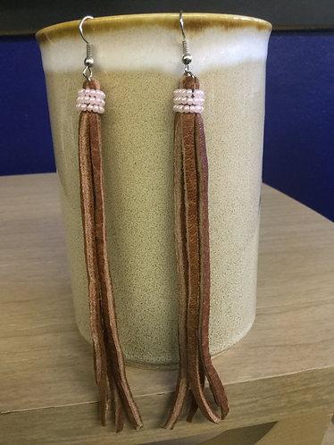 Long Fringe Earrings, Handmade Ready to Ship
