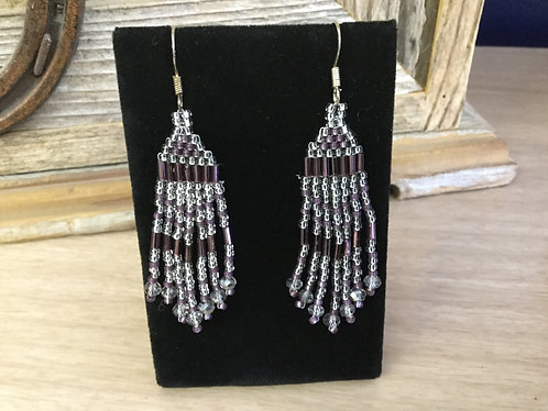 Hand beaded earrings, Ready to Ship