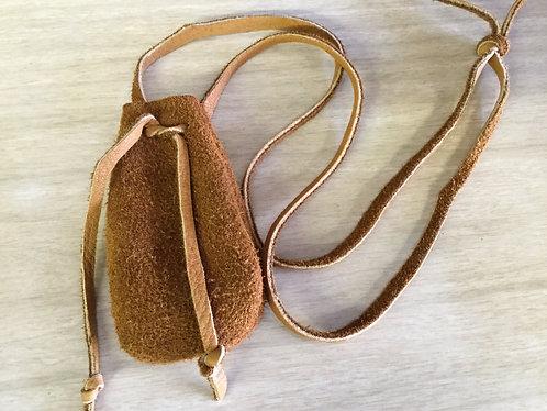 Hand Sewn Elk Hide Pouch, Handmade Bag, Ready to Ship