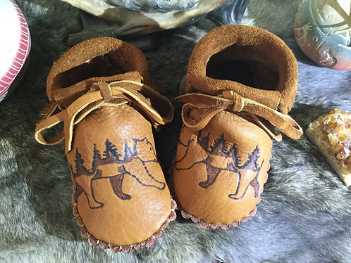 Hand Sewn Moccasins, Toddler Size 7, Ready to Ship