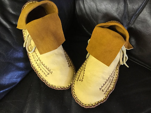 Hand Sewn Moccasins, Men's Size 11 Ready to Ship