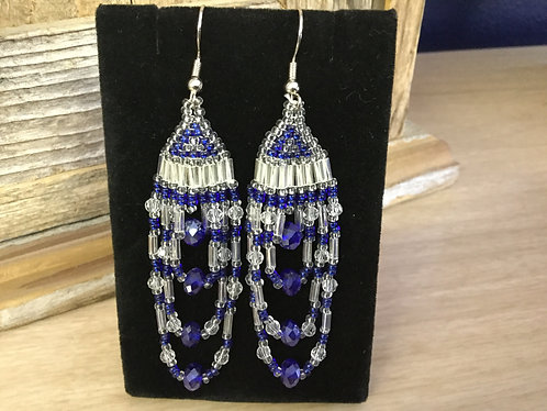 Hand beaded earrings,One of a Kind, Ready to Ship