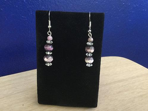 Handmade Purple Earrings, Ready to Ship