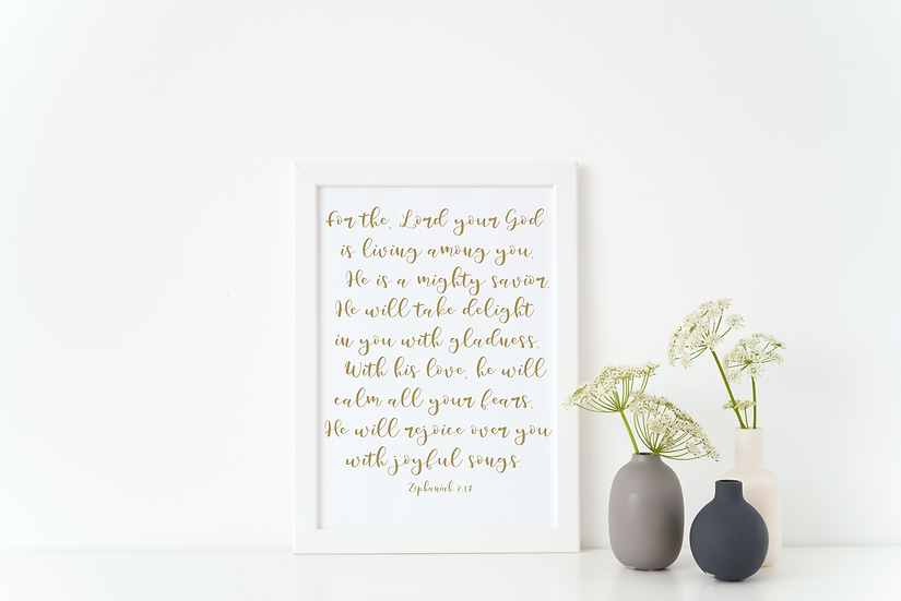 He will rejoice over you (foil)