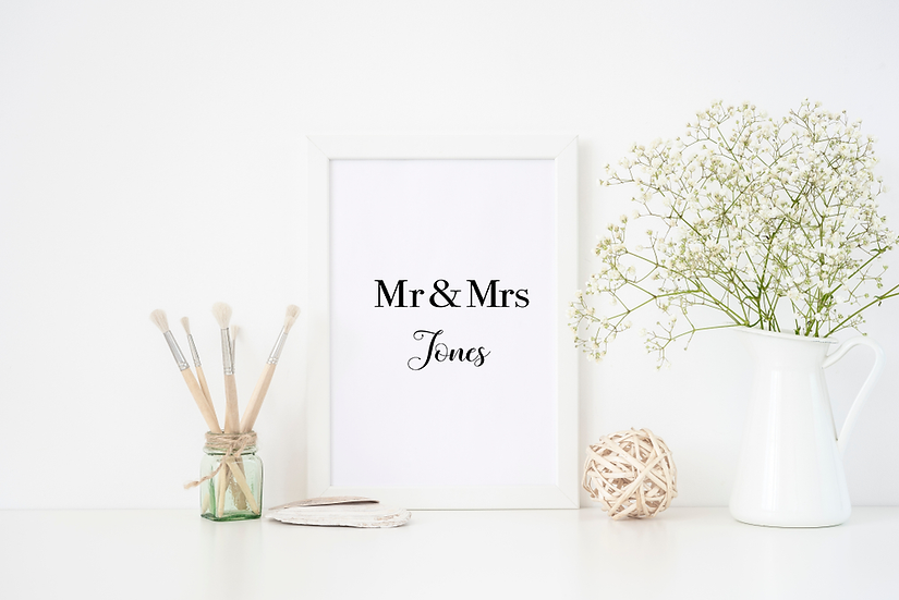 Mr and Mrs (personalised)