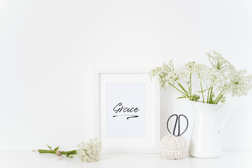 Grace print with white frame