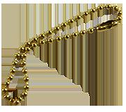 Цепочка латунная (под золото)