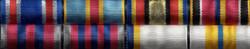 Орденская планка на 8 наград