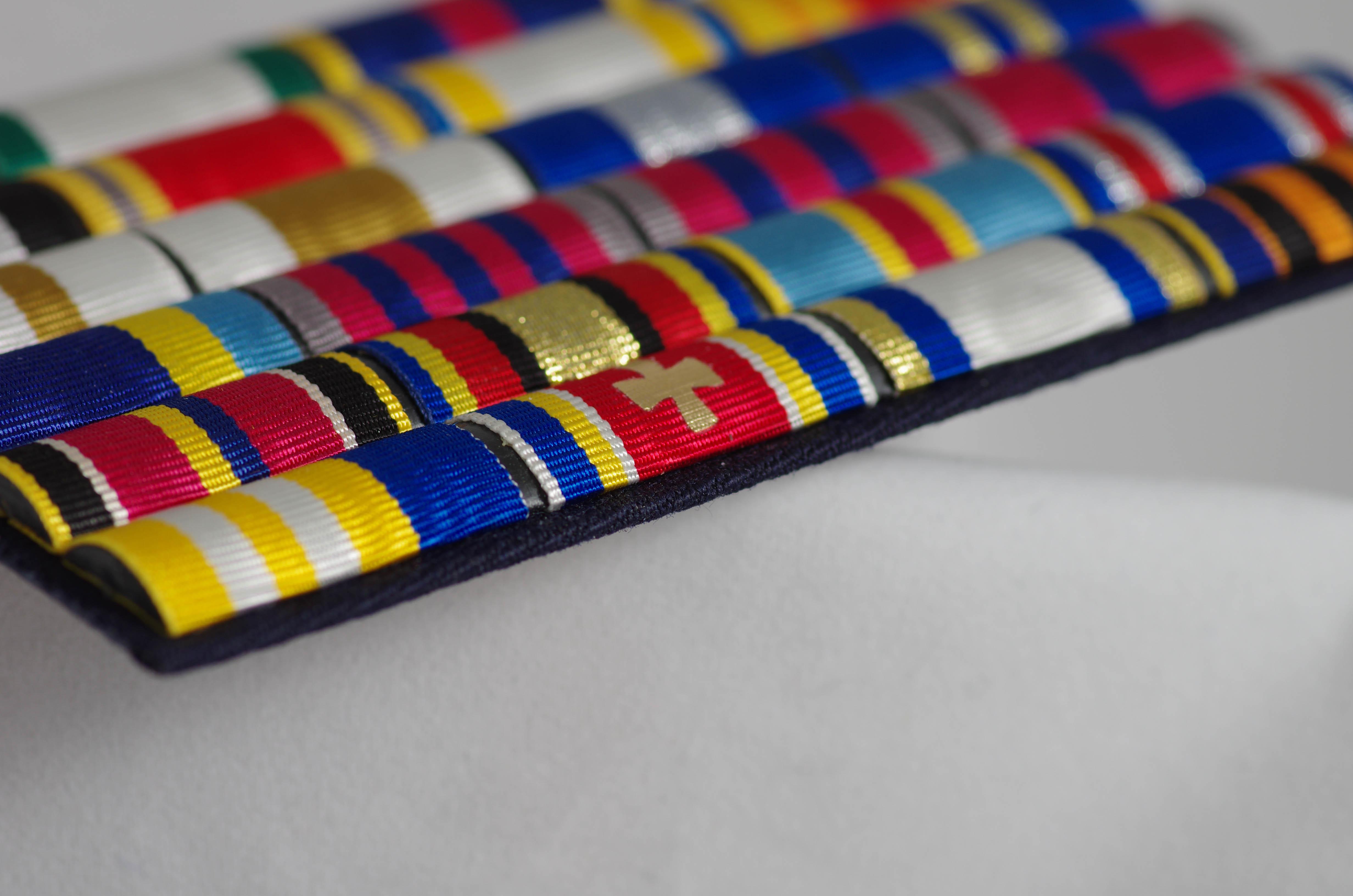 Орденская планка с муаровой лентой
