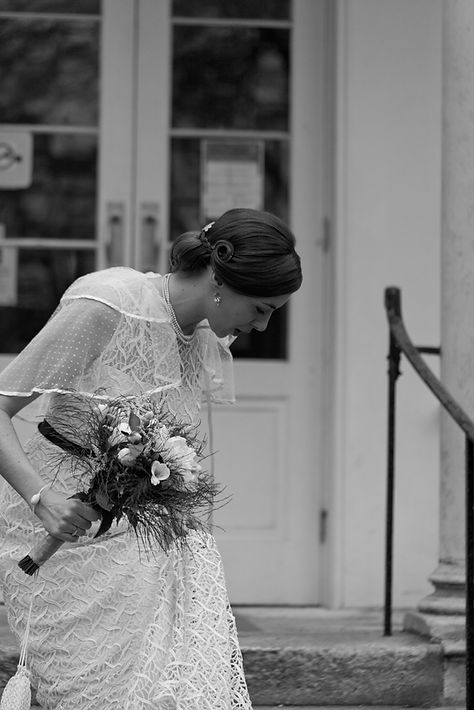Manor House Library Wedding Venue, London captured by Grace Pham Wedding Photographer. Lovely Register office in East London. Bride about to get married.