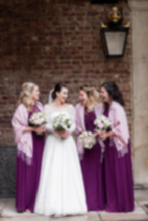 The Chapel Royal in St James's Palace Wedding captured by London Photographer Grace Pham, bridesmaids 01