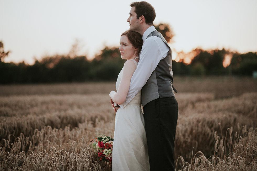 Countryside Family Farm Wedding, couple portraits, wheatfields, by Grace Pham Photography 04