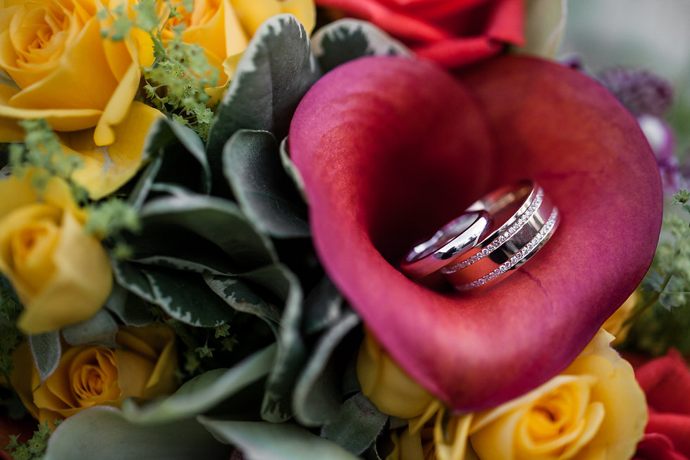 wedding rings captured by Grace Pham Photography