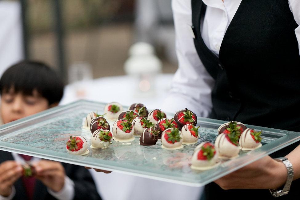 strawberries and chocolate. Pembroke Lodge Wedding, Richmond Park captured by Grace Pham Wedding Photographer