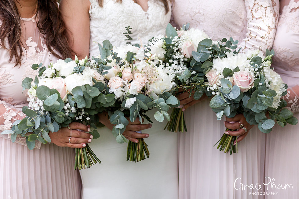 Gate Street Barn Wedding, Bridal Party, captured by Grace Pham Photography 1