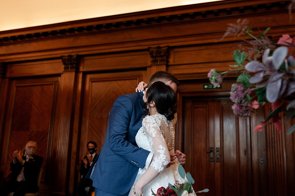 Covid-19  Wedding at The Old Marylebone Town Hall captured by Grace Pham Photography 4