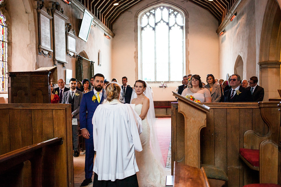 Saint Mary The Virgin Church Wedding, Ipswich, Suffolk, captured by Grace Pham Photography 07