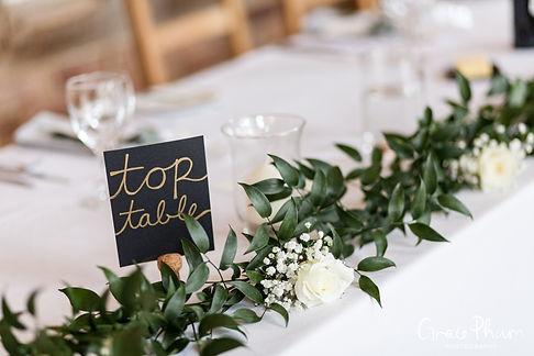 Gate Street Barn Wedding, Reception room, captured by Grace Pham Photography 02