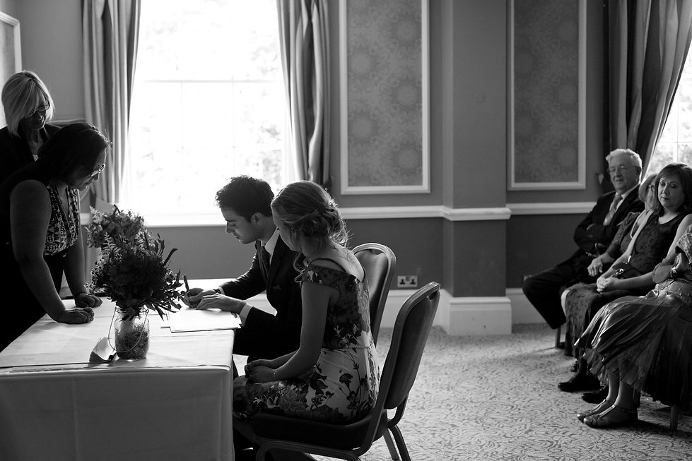 Hotel du Vin Wimbledon Wedding Ceremony in the Krug room by Grace Wedding Photography 04