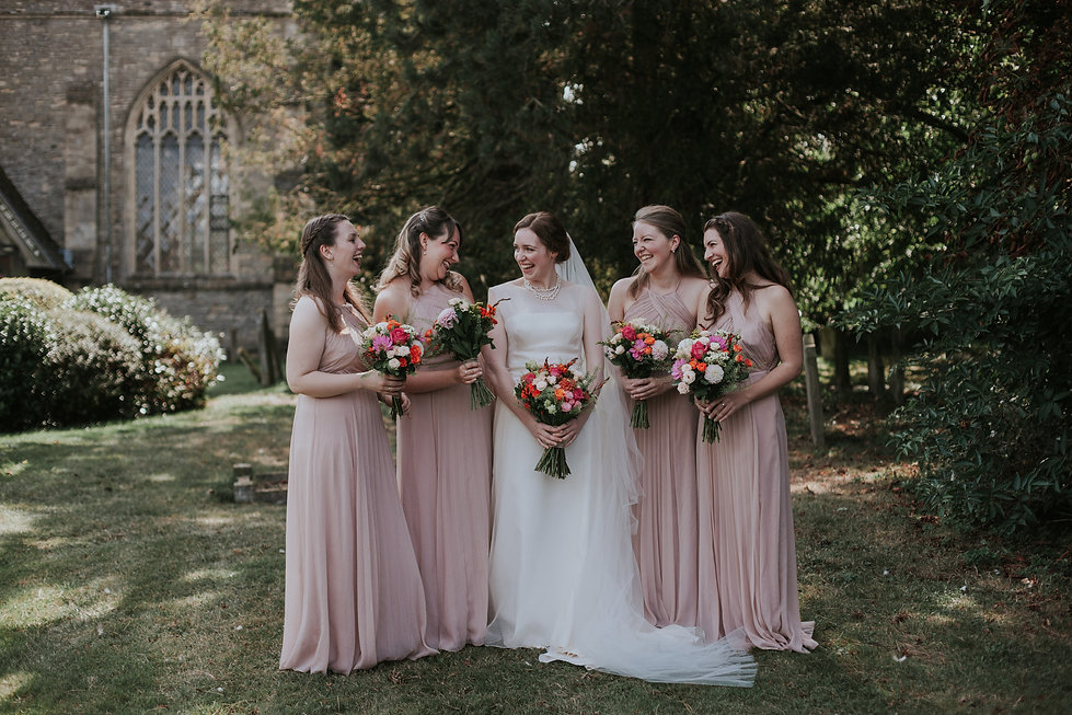 St Mary's Church Wedding, Wootton captured by Grace Pham Photography 03