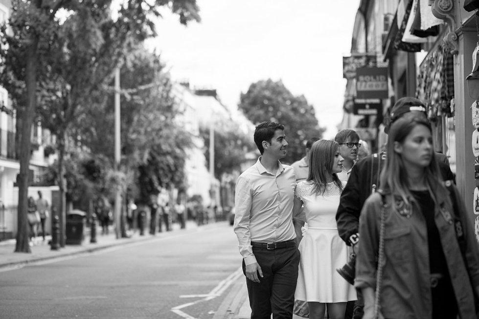 Notting Hill, Portobello Road Market, London Engagement Photoshoot 03