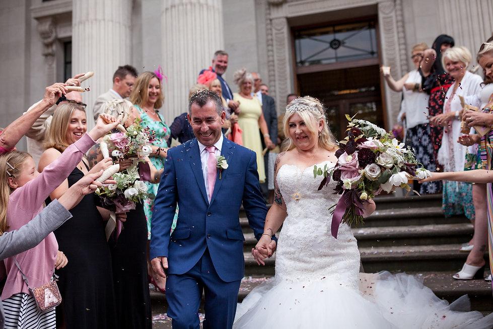 The Old Marylebone Town Hall Wedding Photography, London, Punk Bride 1