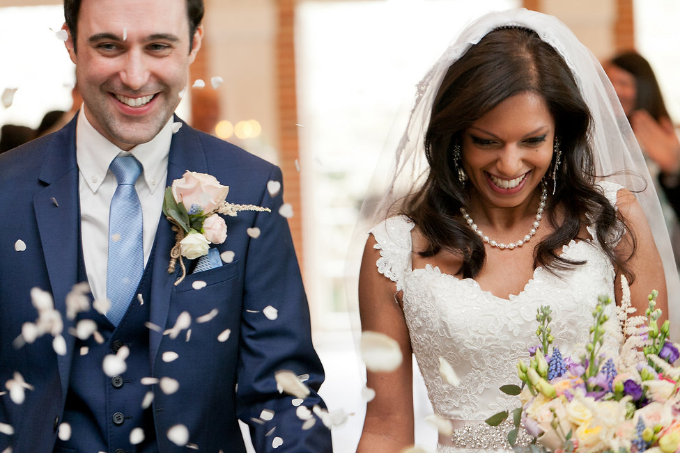Bride and groom get married at Great Fosters, surrey wedding venue captured by Grace Pham Photography.