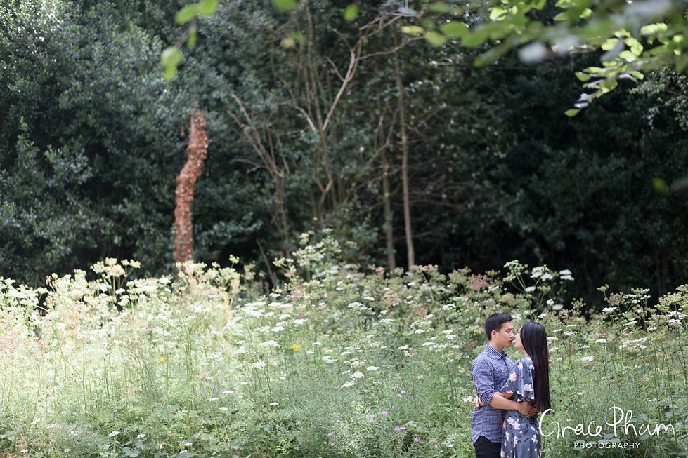 Hampstead Pergola & Hill Gardens Engagement Shoot captured by Grace Pham London Wedding Photographer 16