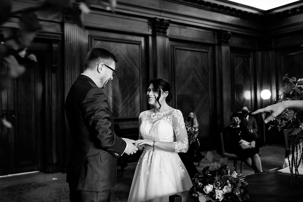 Covid Wedding at The Old Marylebone Town Hall captured by Grace Pham Photography 2