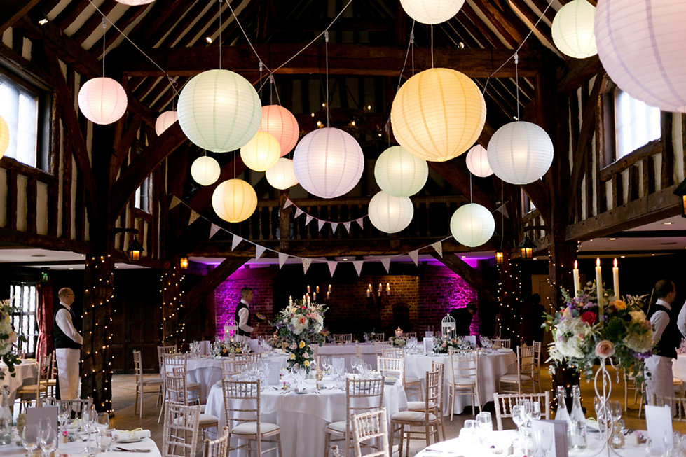 The Tithe Barn Wedding Reception, Great Fosters Wedding, Surrey Wedding Venue