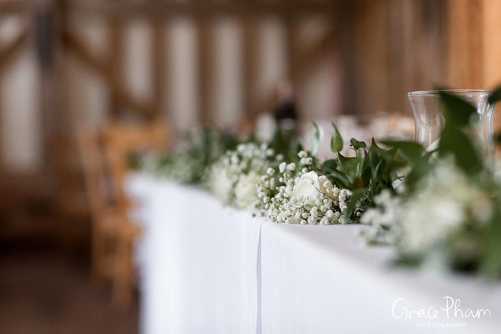 Gate Street Barn Wedding, Reception room, captured by Grace Pham Photography 6