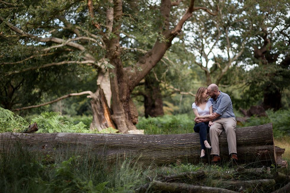 Richmond Park Engagement Shoot by Grace Pham Photography 2