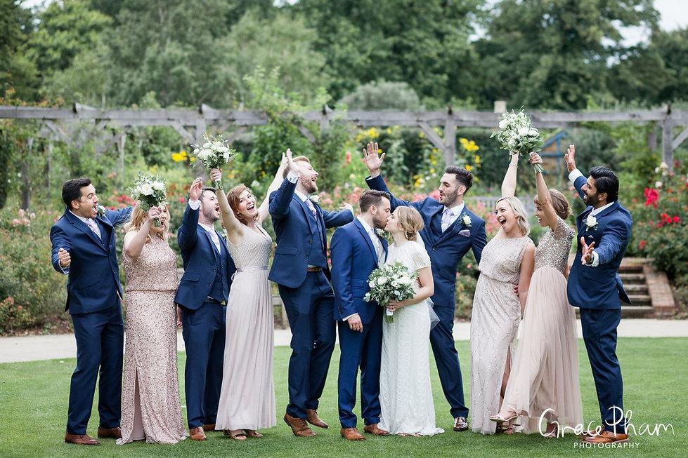 Pembroke Lodge, Richmond Park Wedding by London wedding photographer. Bridal party.