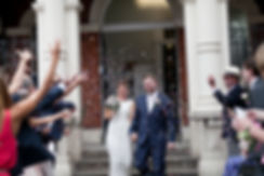 Mayfair Library Wedding, confetti moment
