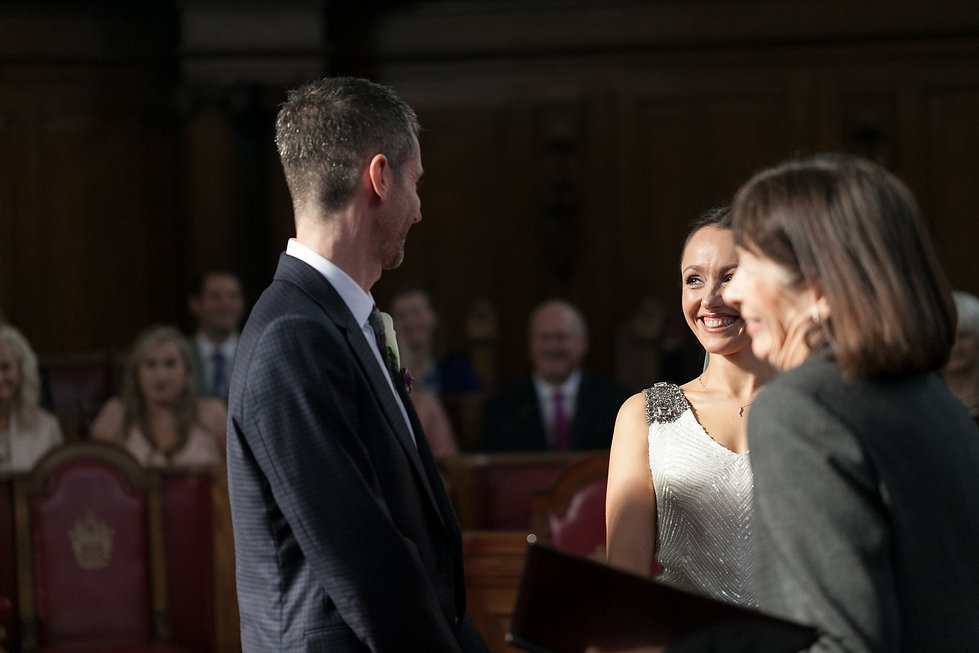 Getting married at the Islington Town Hall captured by Reportage London Wedding Photographer