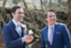 Groom and bestman, Great Fosters Wedding, Surrey Wedding Photographer